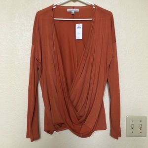 NWT Abercrombie & Fitch Long Sleeve Surplice Top